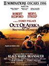 Affiche Out of Africa, souvenirs d'Afrique