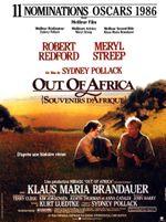 Affiche Out of Africa (Souvenirs d'Afrique)
