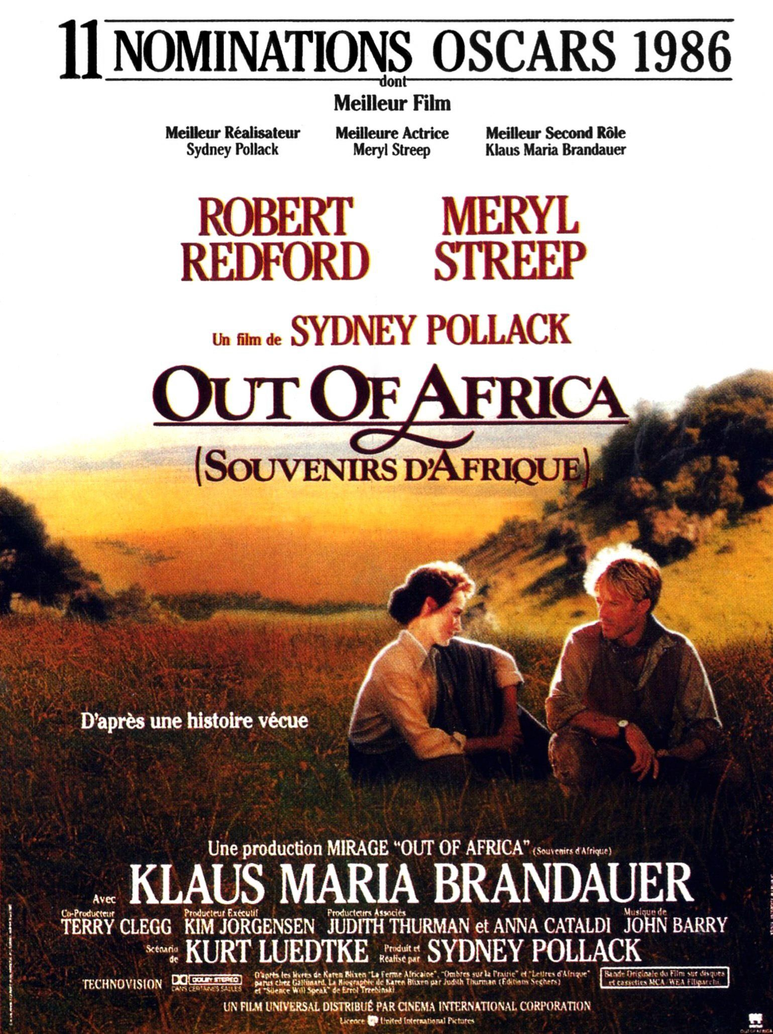 out of africa souvenirs d 39 afrique film 1985. Black Bedroom Furniture Sets. Home Design Ideas