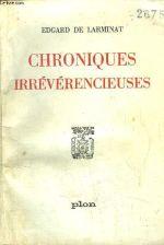 Couverture Chroniques irrévérencieuses