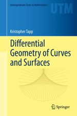 Couverture Differential Geometry of Curves and Surfaces