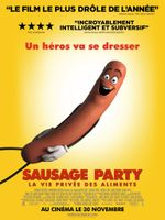 Affiche Sausage Party : La Vie privée des aliments