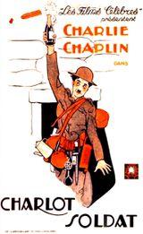 Affiche Charlot Soldat