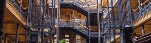 Cover Bradbury Building - 304 S. Broadway, Downtown, Los Angeles, California, USA