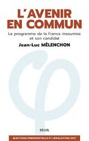 Couverture L'avenir en commun (le programme de la France insoumise et son candidat)