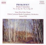 Pochette Piano Concertos: No. 2, op. 16 / No. 5, op. 55