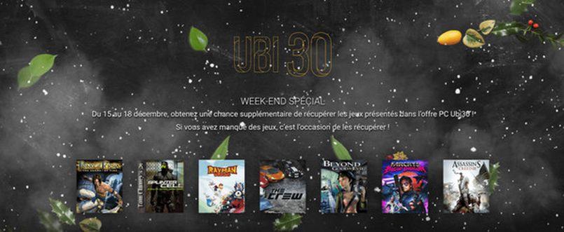 Illustration Ce week-end, Ubisoft offre 7 jeux en téléchargement légal et gratuit