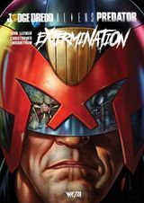 Couverture Judge Dredd/Aliens/Predator  : Extermination - Judge Dredd/Aliens/Predator, tome 3