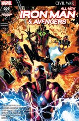 Couverture Attrape Moi Si Tu Peux - All-New Iron Man & Avengers, tome 9