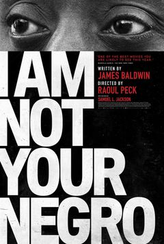 Affiche I Am Not Your Negro