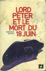 Couverture Lord Peter et le Mort du 18 juin