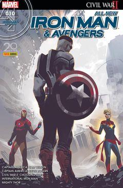 Couverture Les Coulisses De La Guerre - All-New Iron Man & Avengers, tome 10