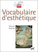 Couverture Vocabulaire d'esthétique