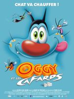 Affiche Oggy et les Cafards, le film
