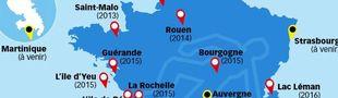 Cover Petit tour de France en polars