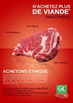Affiche La Boucherie Éthique