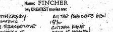 Cover Meilleurs films selon David Fincher