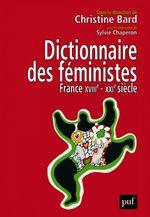 Couverture Dictionnaire des féministes France