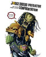 Couverture Judge Dredd/Predator : Confrontation - Judge Dredd/Aliens/Predator, tome 2