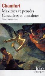 Couverture Maximes et pensées : Caractères et anecdotes