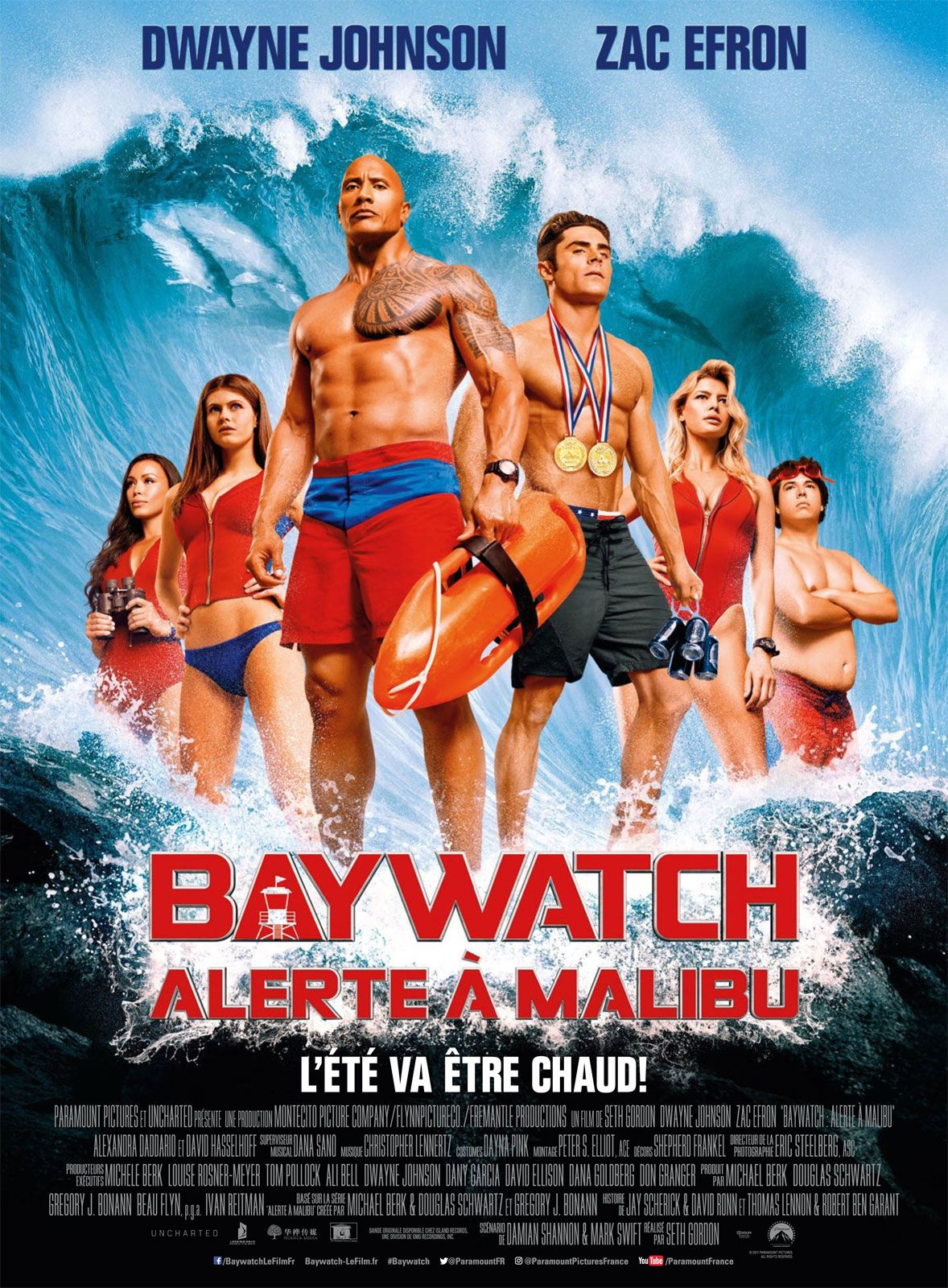affiches posters et images de baywatch alerte malibu 2017. Black Bedroom Furniture Sets. Home Design Ideas