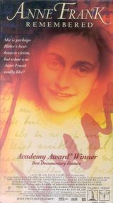 Affiche Anne Frank Remembered