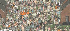 """Illustration """"Où est Charlie ?"""" version """"The Wire"""" : aidez D'Angelo à retrouver Wallace!"""