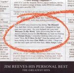 Pochette Jim Reeves – His Personal Best: The Greatest Hits