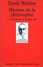 Couverture Histoire de la philosophie, tome 1 : Antiquité et Moyen Âge