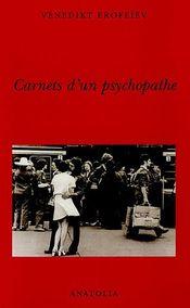 Couverture Carnets d'un psychopathe