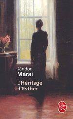 Couverture L'Héritage d'Esther