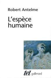 Couverture L'Espèce humaine