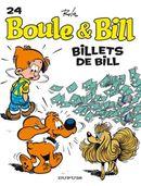 Couverture Billets de Bill - Boule et Bill (nouvelle édition), tome 24