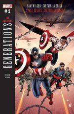 Couverture Generations: Sam Wilson: Captain America & Steve Rogers: Captain America