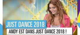 Vidéo JUST DANCE 2018 : APRÈS NATOO, UBISOFT A FAIT APPEL À ANDY RACONTE, UNE AUTRE YOUTUBEUSE