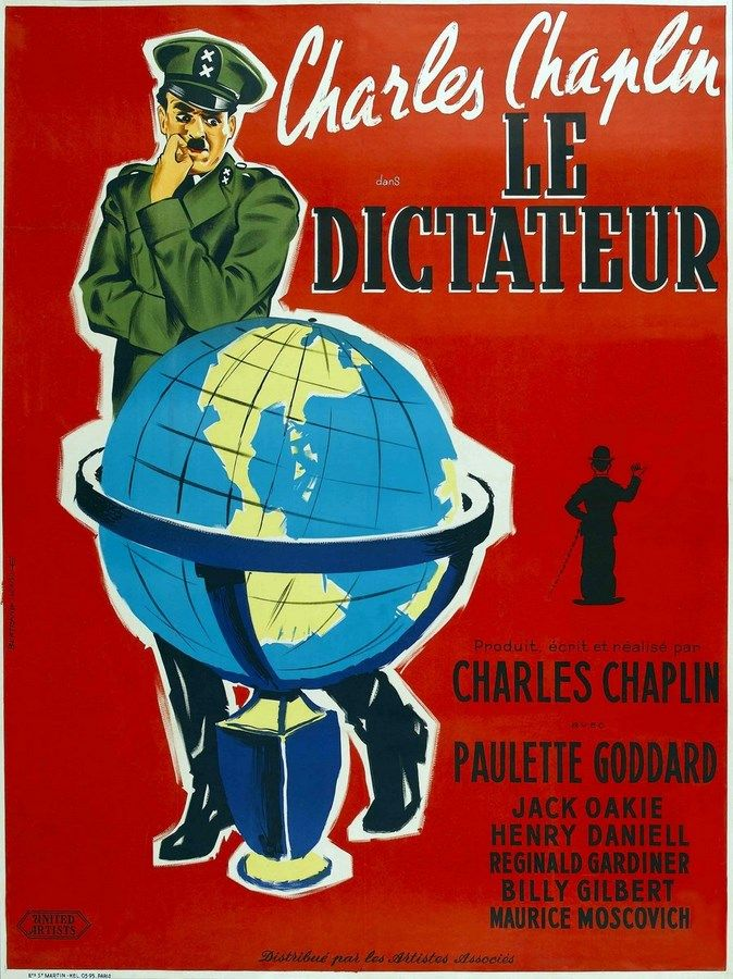 affiches posters et images de le dictateur 1940 senscritique. Black Bedroom Furniture Sets. Home Design Ideas