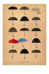 Affiche Le Parapluie bleu