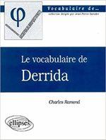 Couverture Le vocabulaire de Derrida