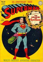 Couverture L'origine de Superman