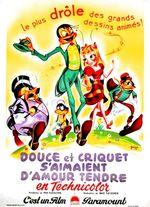 Affiche Douce et Criquet s'aimaient d'amour tendre