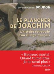 Couverture Le plancher de Joachim
