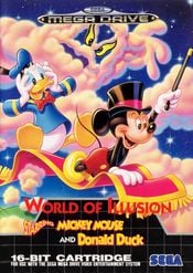 Jaquette World of Illusion starring Mickey Mouse and Donald Duck