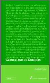 Couverture Guerre et paix au Kurdistan