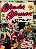 Couverture Wonder Woman présidente