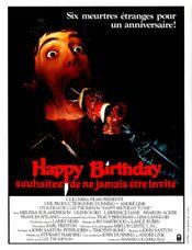Affiche Happy birthday, souhaitez ne jamais être invité