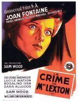 Affiche Le Crime de Mme Lexton