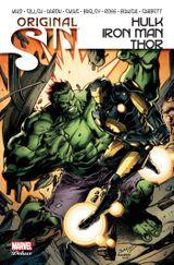 Couverture Original Sin : Hulk / Iron Man / Thor