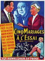 Affiche Cinq mariages à l'essai