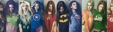 Cover Les Meilleurs films de Super Héros de Cosmic M avec des personnages féminins forts