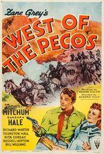 Affiche À l'ouest du Pecos